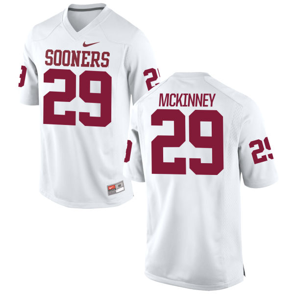 Youth Nike Prentice McKinney Oklahoma Sooners Game White Football Jersey