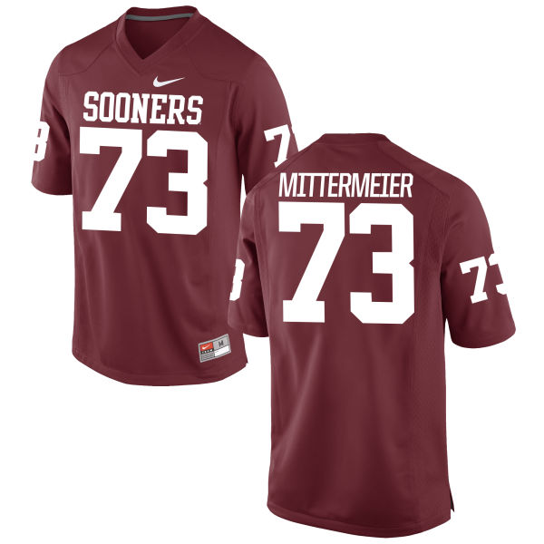 Men's Nike Quinn Mittermeier Oklahoma Sooners Authentic Crimson Football Jersey