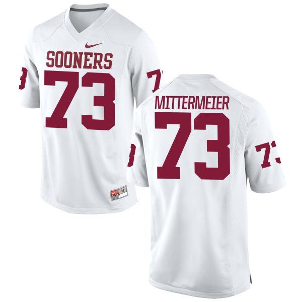 Men's Nike Quinn Mittermeier Oklahoma Sooners Game White Football Jersey
