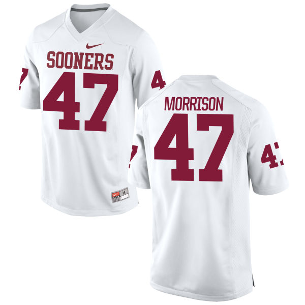 Men's Nike Reece Morrison Oklahoma Sooners Game White Football Jersey