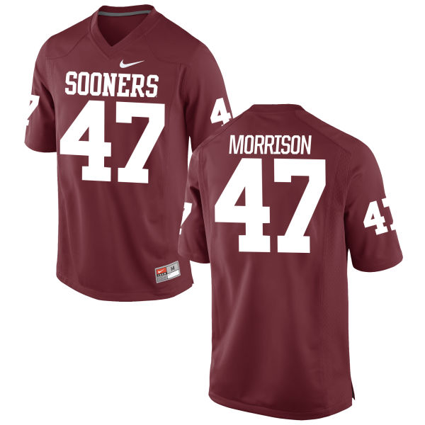 Youth Nike Reece Morrison Oklahoma Sooners Game Crimson Football Jersey