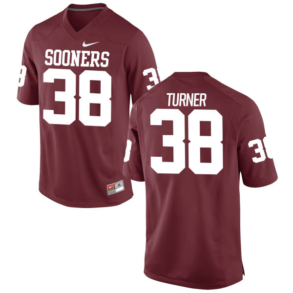 Men's Nike Reggie Turner Oklahoma Sooners Game Crimson Football Jersey