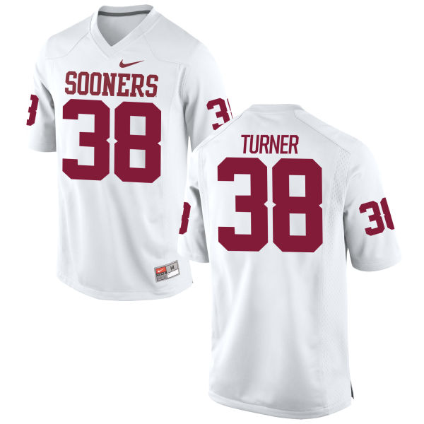 Men's Nike Reggie Turner Oklahoma Sooners Game White Football Jersey