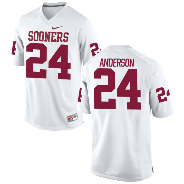 Men's Rodney Anderson Oklahoma Sooners Game White Football Jersey
