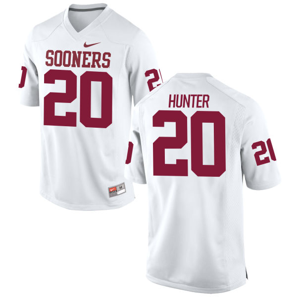 Men's Nike Ruben Hunter Oklahoma Sooners Game White Football Jersey