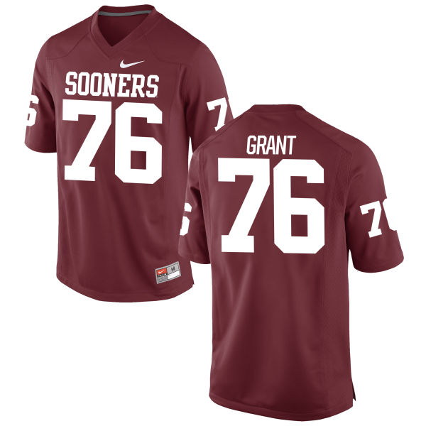 Men's Nike Sam Grant Oklahoma Sooners Game Crimson Football Jersey