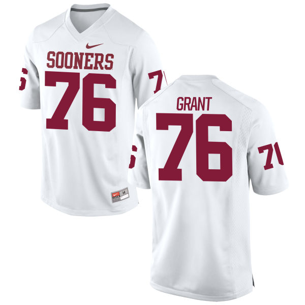 Men's Nike Sam Grant Oklahoma Sooners Game White Football Jersey
