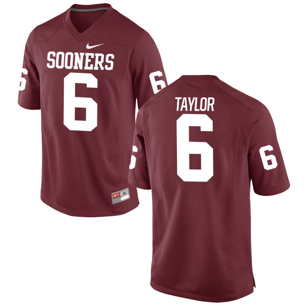 Men's Nike Stanvon Taylor Oklahoma Sooners Game Crimson Football Jersey