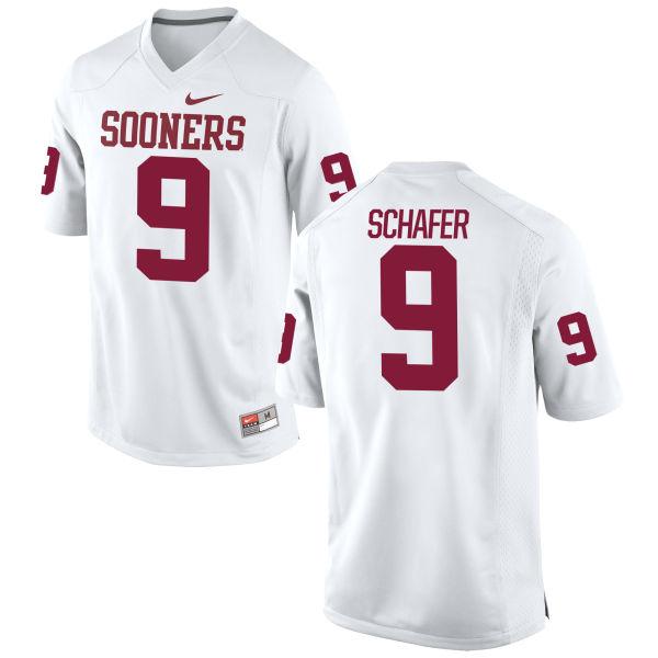 Men's Nike Tanner Schafer Oklahoma Sooners Game White Football Jersey