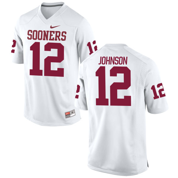 Men's Nike Will Johnson Oklahoma Sooners Game White Football Jersey