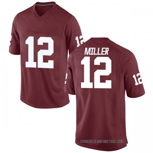 Men's Nike A.D. Miller Oklahoma Sooners Game Crimson Football College Jersey