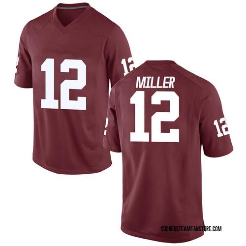 Men's Nike A.D. Miller Oklahoma Sooners Replica Crimson Football College Jersey