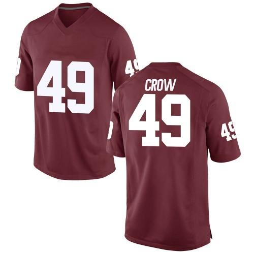 Men's Nike Andrew Crow Oklahoma Sooners Game Crimson Football College Jersey