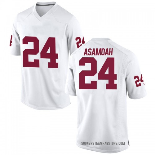 Men's Nike Brian Asamoah Oklahoma Sooners Game White Football College Jersey