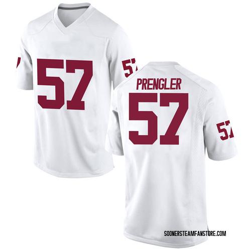 Men's Nike Brock Prengler Oklahoma Sooners Game White Football College Jersey
