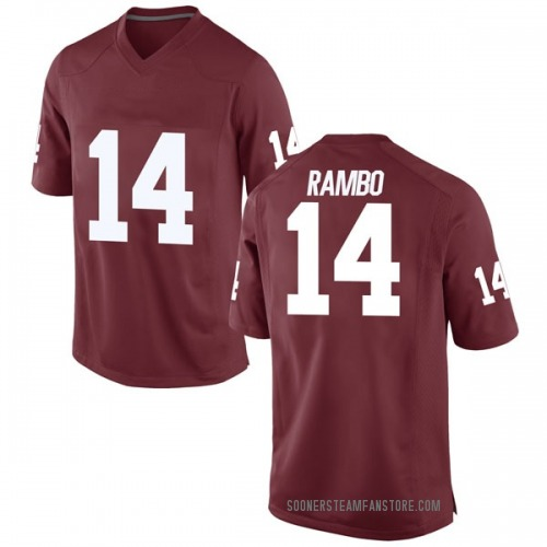 Men's Nike Charleston Rambo Oklahoma Sooners Game Crimson Football College Jersey