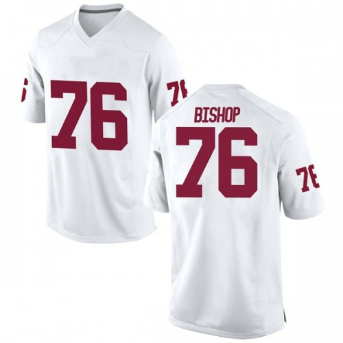 Men's Nike Dalton Bishop Oklahoma Sooners Game White Football College Jersey