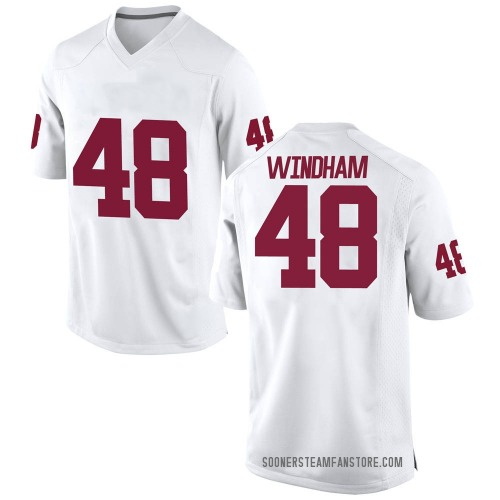 Men's Nike Eric Windham Oklahoma Sooners Game White Football College Jersey