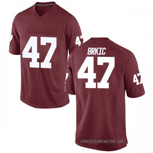 Men's Nike Gabe Brkic Oklahoma Sooners Replica Crimson Football College Jersey