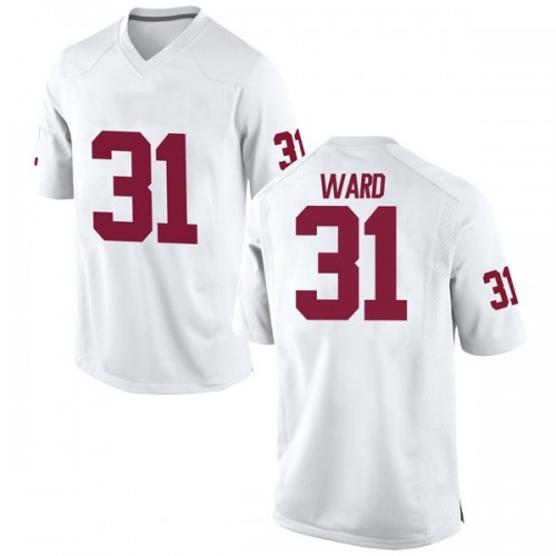 Men's Nike Grant Ward Oklahoma Sooners Game White Football College Jersey