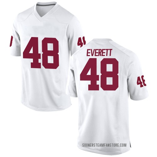 Men's Nike Hunter Everett Oklahoma Sooners Game White Football College Jersey