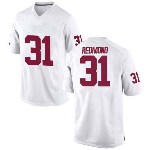 Men's Nike Jalen Redmond Oklahoma Sooners Replica White Football College Jersey