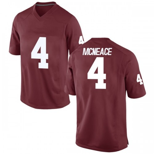 Men's Nike Jamuni McNeace Oklahoma Sooners Game Crimson Football College Jersey
