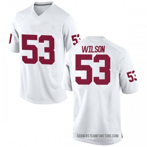 Men's Nike Jax Wilson Oklahoma Sooners Game White Football College Jersey