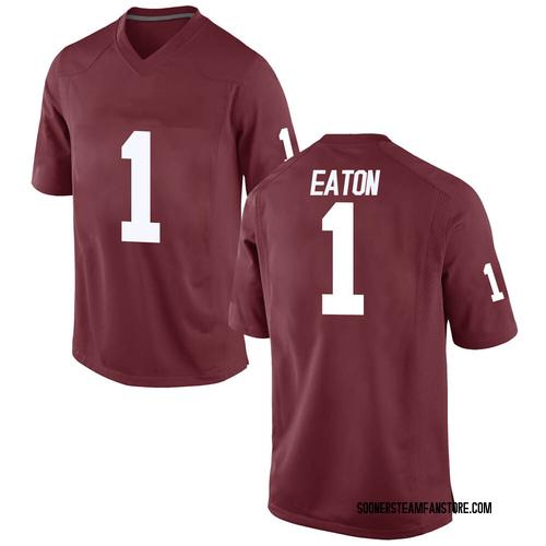 Men's Nike Joshua Eaton Oklahoma Sooners Game Crimson Football College Jersey