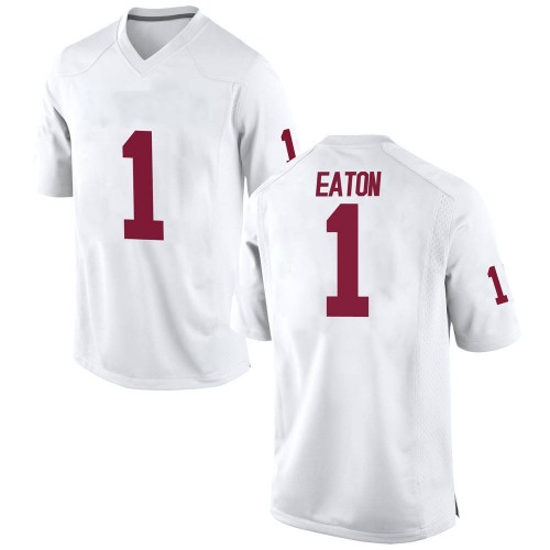 Men's Nike Joshua Eaton Oklahoma Sooners Game White Football College Jersey