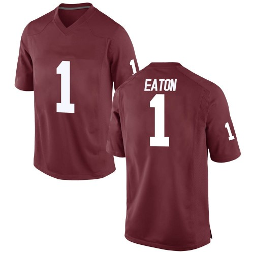 Men's Nike Joshua Eaton Oklahoma Sooners Replica Crimson Football College Jersey