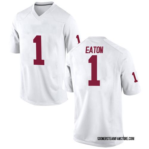 Men's Nike Joshua Eaton Oklahoma Sooners Replica White Football College Jersey