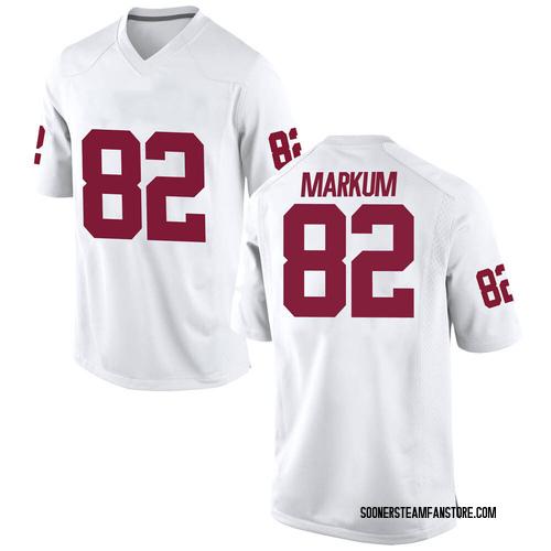 Men's Nike Josiah Markum Oklahoma Sooners Game White Football College Jersey