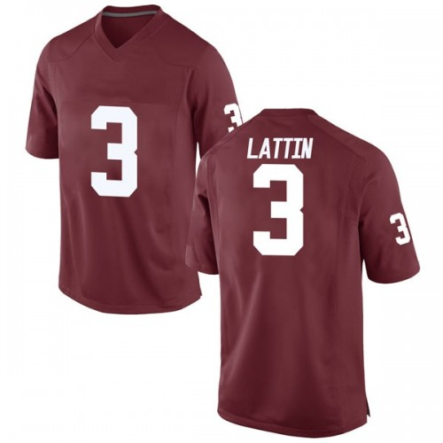 Men's Nike Khadeem Lattin Oklahoma Sooners Game Crimson Football College Jersey