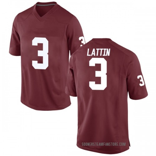 Men's Nike Khadeem Lattin Oklahoma Sooners Replica Crimson Football College Jersey