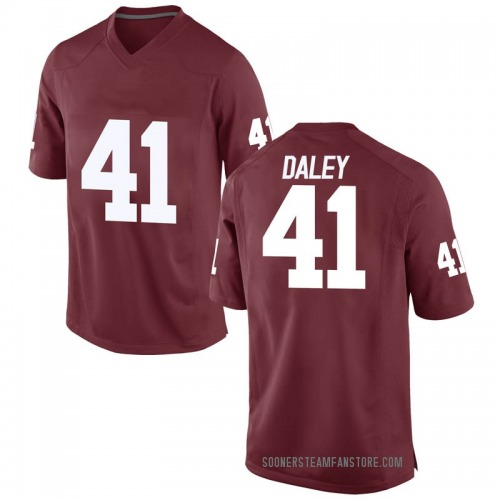 Men's Nike Kjakyre Daley Oklahoma Sooners Game Crimson Football College Jersey