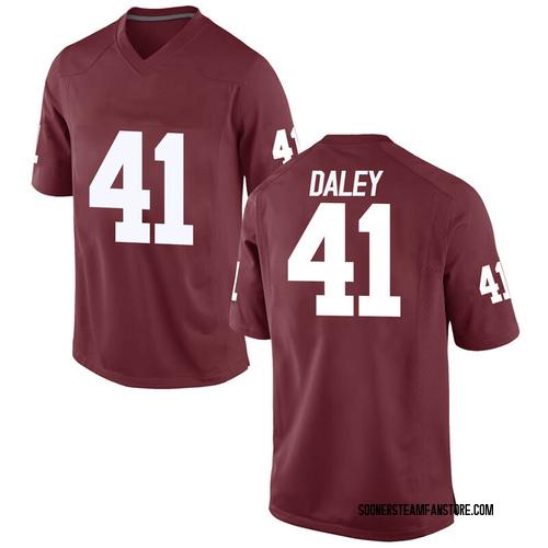 Men's Nike Kjakyre Daley Oklahoma Sooners Game Crimson Football College Jersey