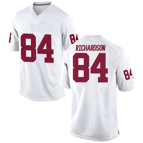Men's Nike Kyre Richardson Oklahoma Sooners Replica White Football College Jersey