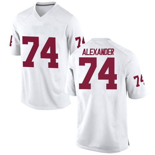 Men's Nike Marcus Alexander Oklahoma Sooners Replica White Football College Jersey
