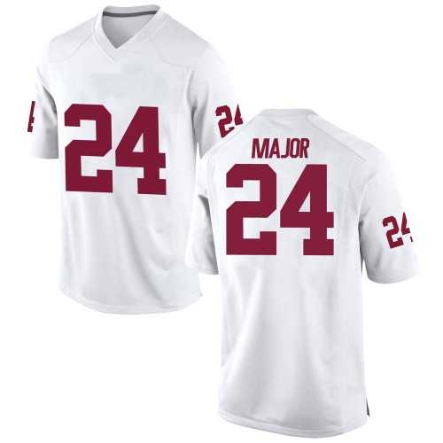 Men's Nike Marcus Major Oklahoma Sooners Replica White Football College Jersey