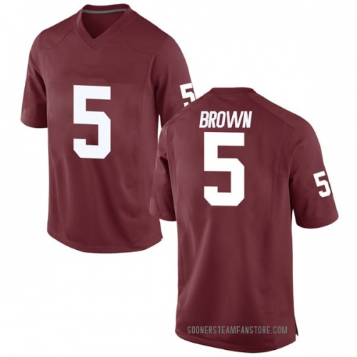 Men's Nike Marquise Brown Oklahoma Sooners Replica Brown Crimson Football College Jersey