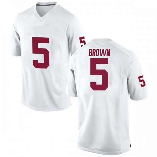 Men's Nike Marquise Brown Oklahoma Sooners Replica White Football College Jersey