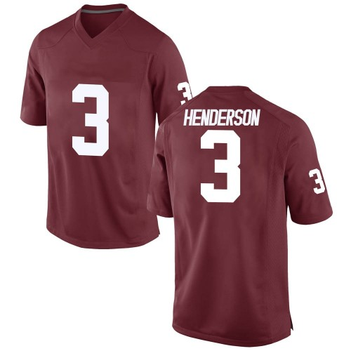 Men's Nike Mikey Henderson Oklahoma Sooners Game Crimson Football College Jersey
