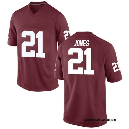 Men's Nike Ryan Jones Oklahoma Sooners Game Crimson Football College Jersey