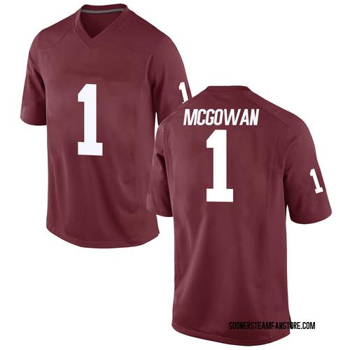 Men's Nike Seth McGowan Oklahoma Sooners Game Crimson Football College Jersey