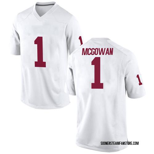 Men's Nike Seth McGowan Oklahoma Sooners Game White Football College Jersey