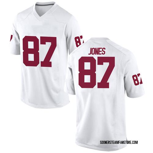 Men's Nike Spencer Jones Oklahoma Sooners Game White Football College Jersey