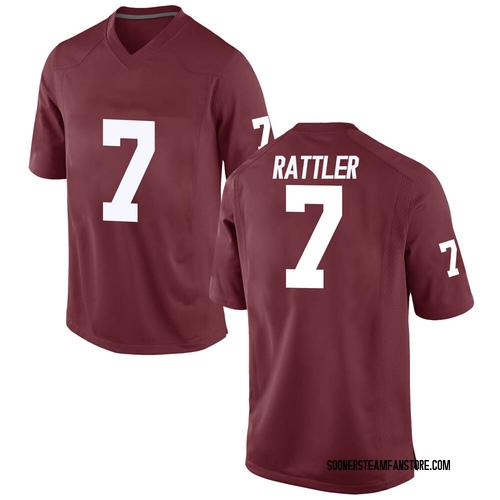 Men's Nike Spencer Rattler Oklahoma Sooners Replica Crimson Football College Jersey