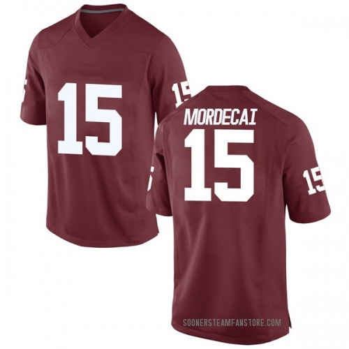 Men's Nike Tanner Mordecai Oklahoma Sooners Game Crimson Football College Jersey