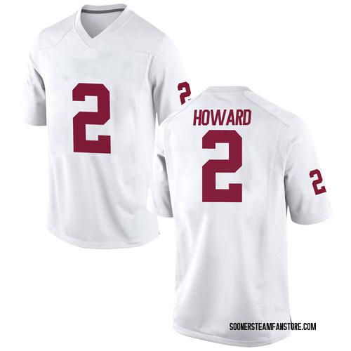 Men's Nike Theo Howard Oklahoma Sooners Game White Football College Jersey